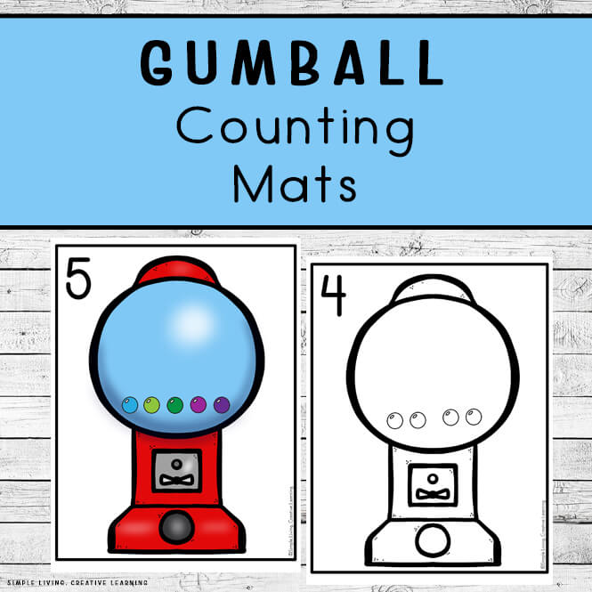 Gumball Counting Mats