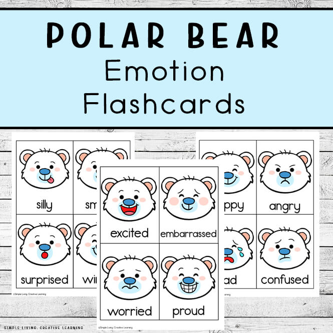 Polar Bear Emotion Flashcards