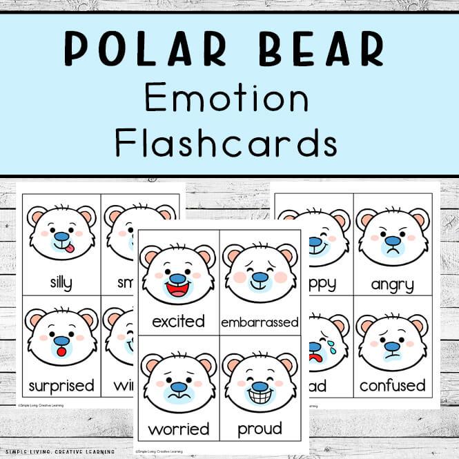 Polar Bear Emotion Flashcards