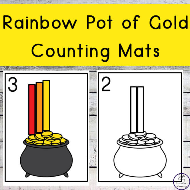Rainbow Pot of Gold Counting Mats