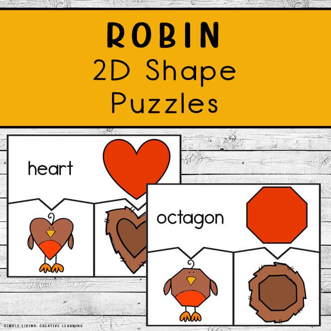 Robin 2D Shape Puzzles