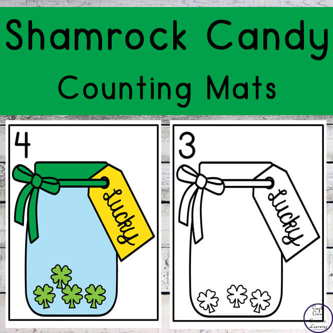 Shamrock Candy Counting Mats