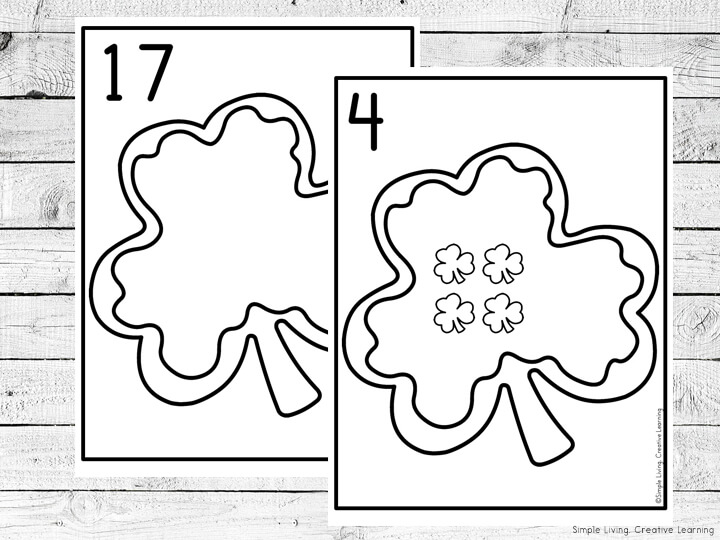 Shamrock Cookies Counting Mats