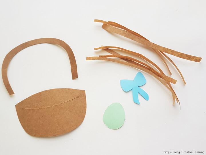 Easter Egg Basket Craft Activity