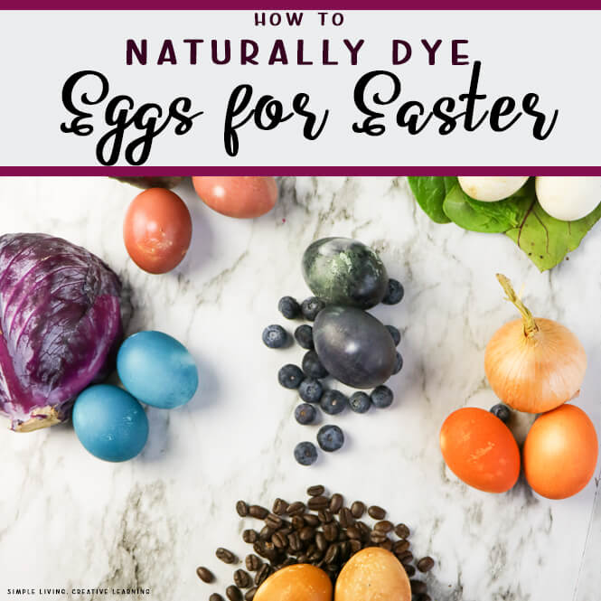 Naturally Dye Eggs for Easter