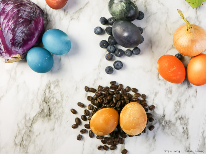 Naturally Dye Eggs for Easter