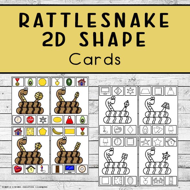 Rattlesnake 2D Shape Clip Cards