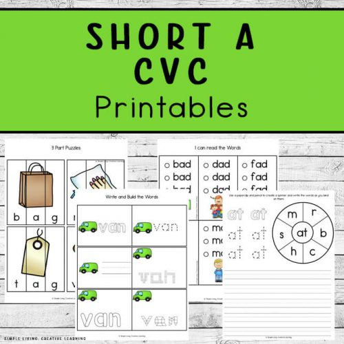 Printable Short A CVC Printables