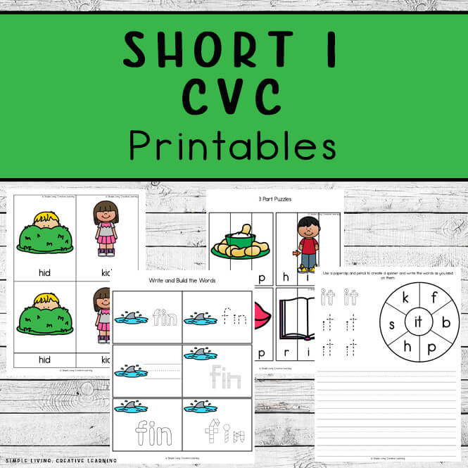 Short I CVC Printables