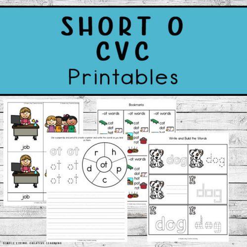 Short O CVC Printables