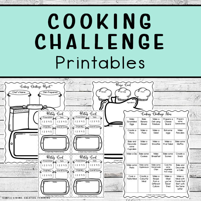 Cooking Challenge Printables