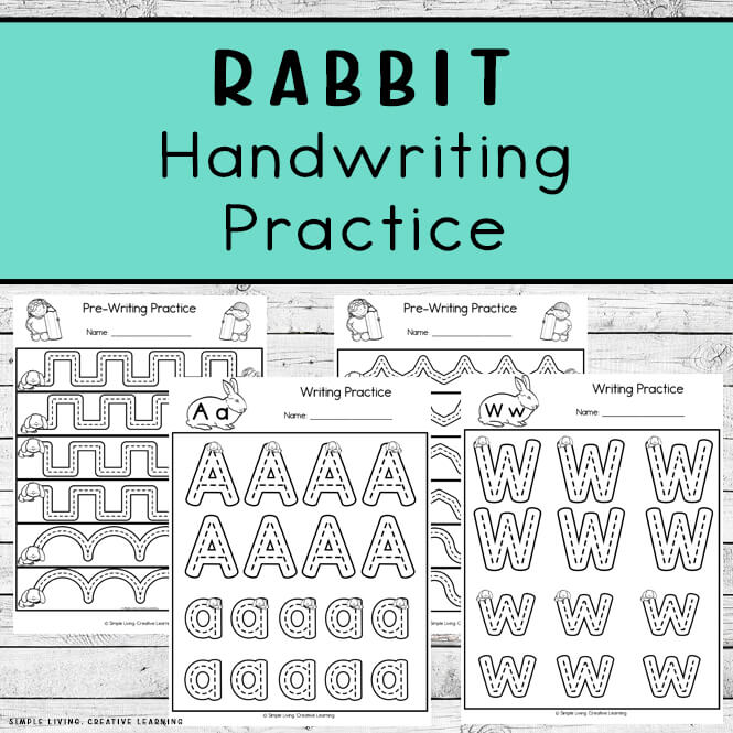Rabbit Themed Handwriting Practice