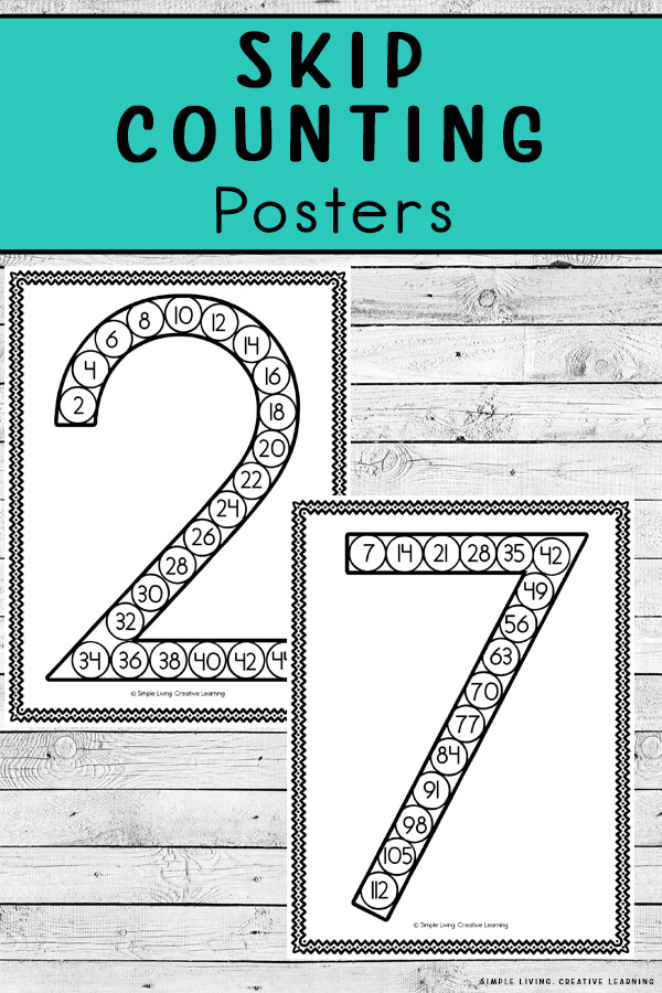 Skip Counting Posters