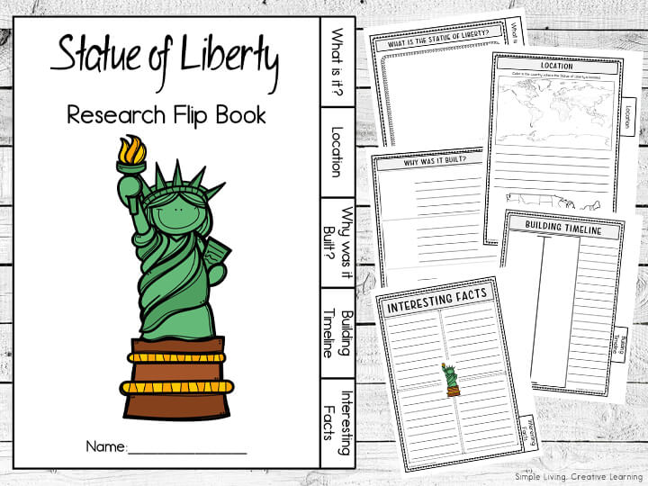Statue of Liberty Research Flip Book