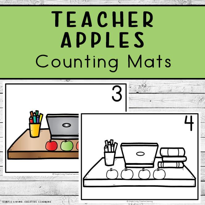 Teacher's Apples Counting Mats