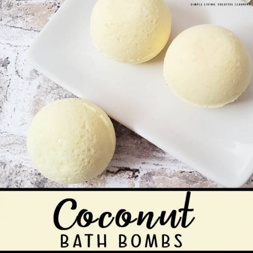 Coconut Scented Bath Bombs