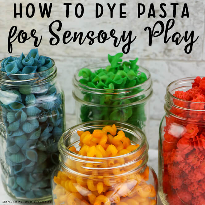 How to Dye Pasta for Sensory Play