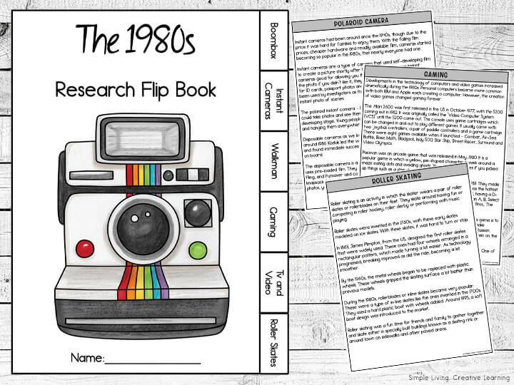 1980s Research Flip Book
