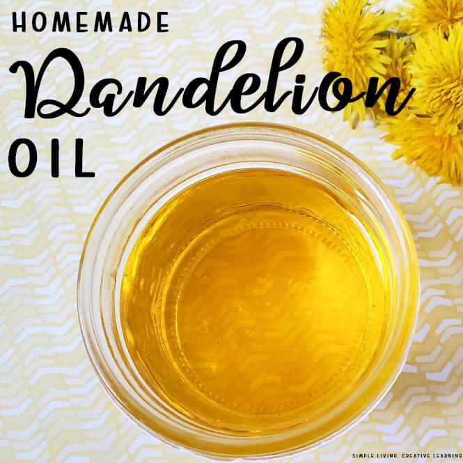 Homemade Dandelion Oil