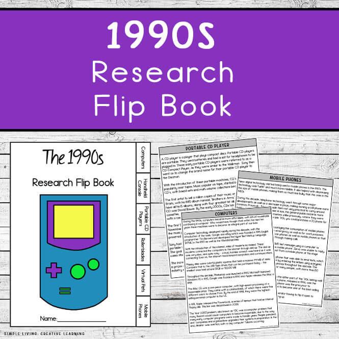 1990s Research Flip Book