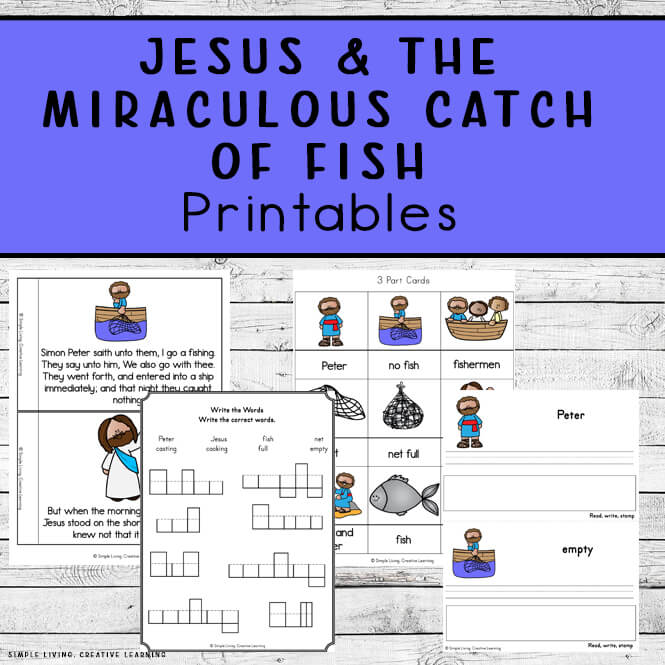 Jesus and the Miraculous Catch of Fish Printables
