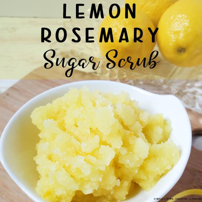 Lemon Rosemary Sugar Scrub