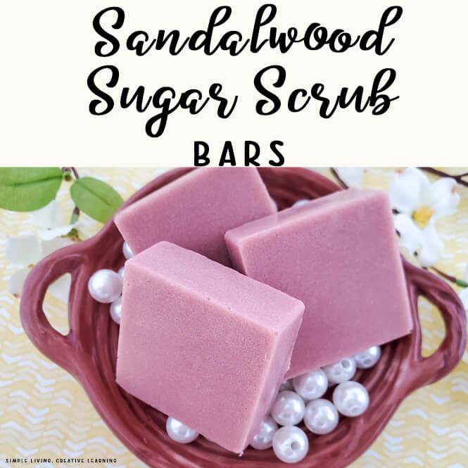 Sandalwood Sugar Scrub Bars