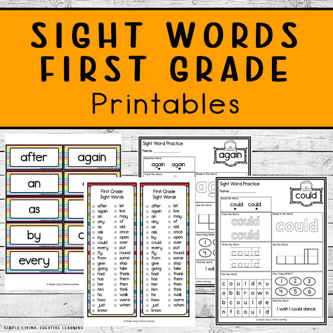 First Grade Sight Word Printables