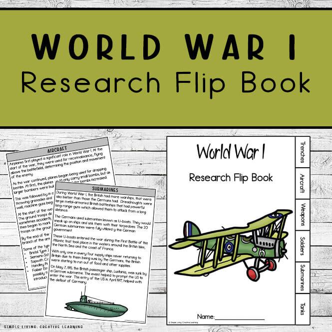 World War 1 Research Flip Book
