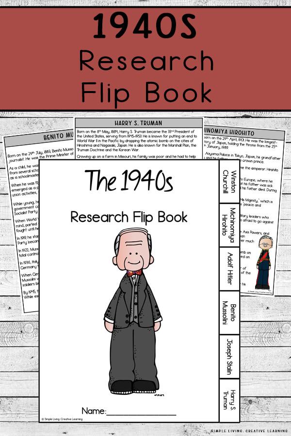 1940s Research Flip Book