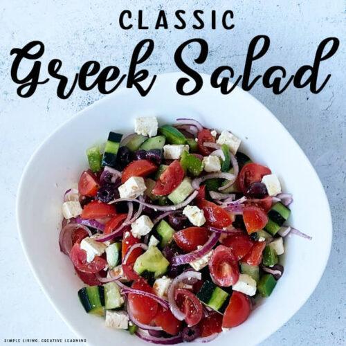 Classic Greek Salad Recipe