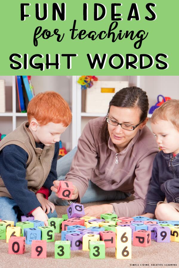 Fun ideas for teaching Sight Words