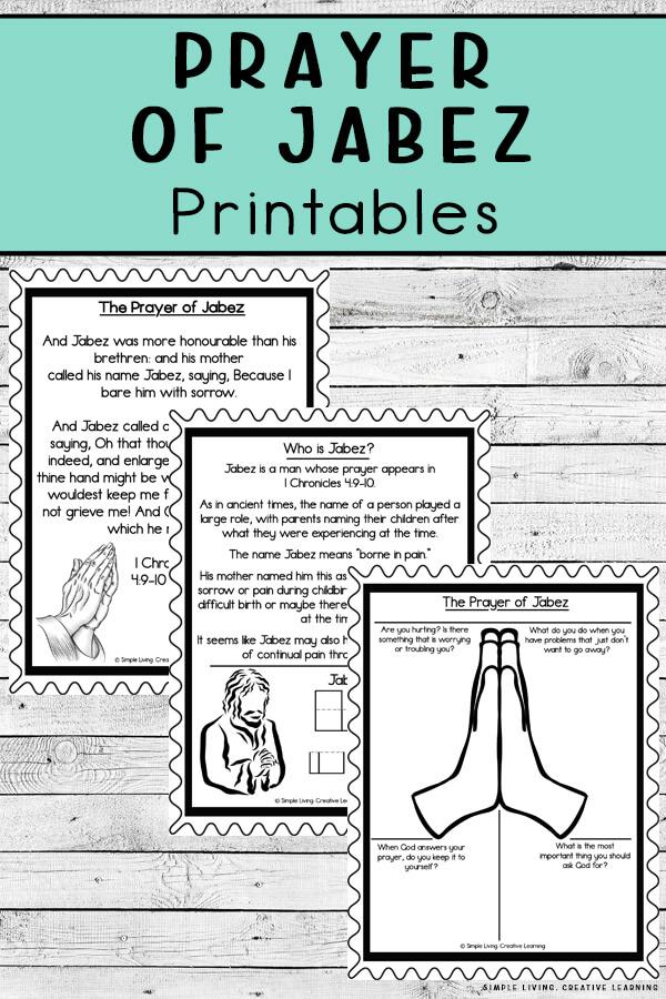Prayer of Jabez Printables