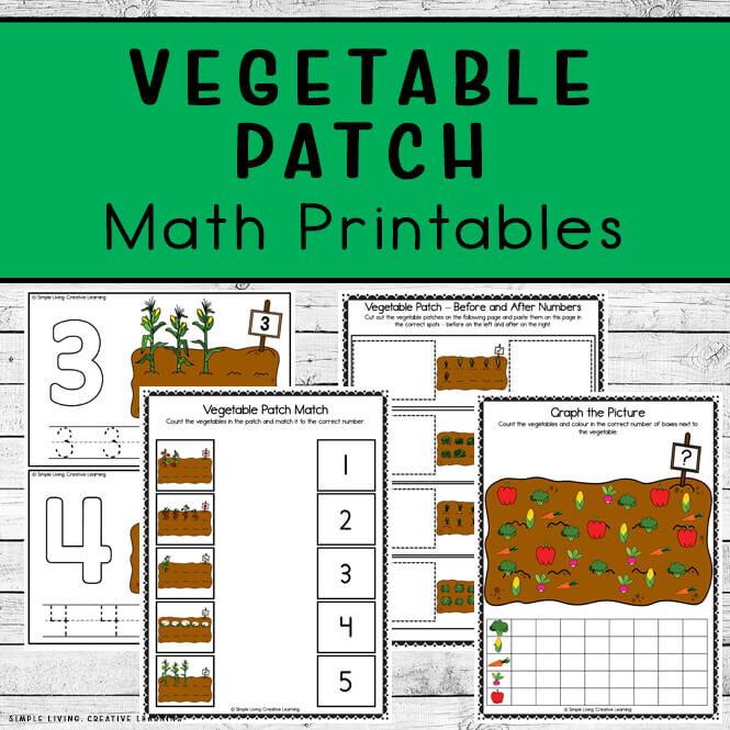 Vegetable Patch Math Printables