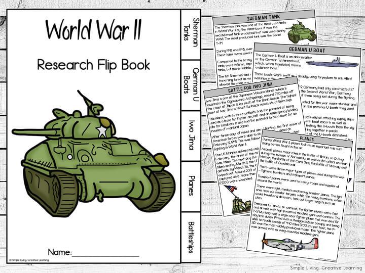 World War 2 Research Flip Book