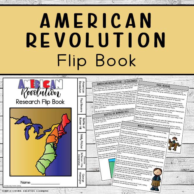 American Revolution Research Flip Book