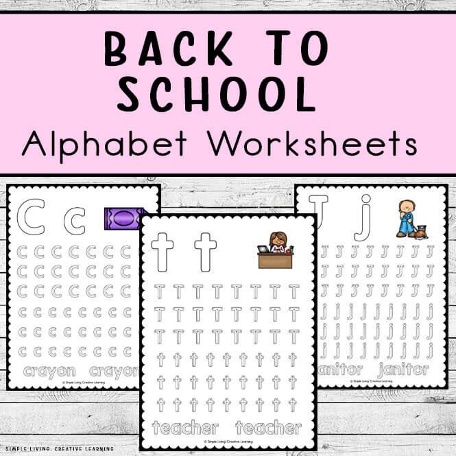 Back to School Alphabet Worksheets