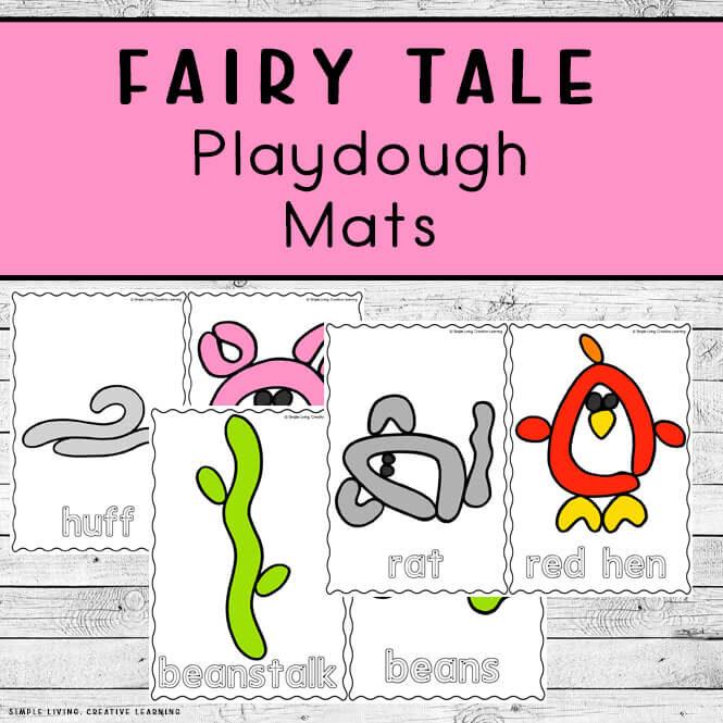 Fairy Tale Playdough Mats