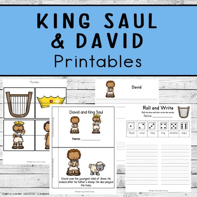 King Saul and David Printables
