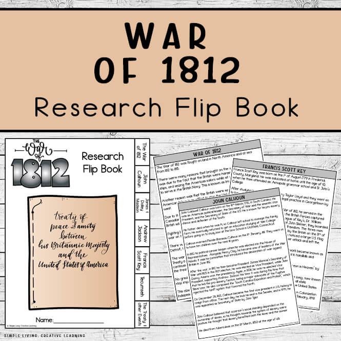 War of 1812 Research Flip Book
