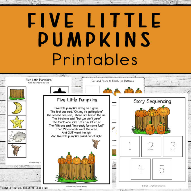 Five Little Pumpkins Printables